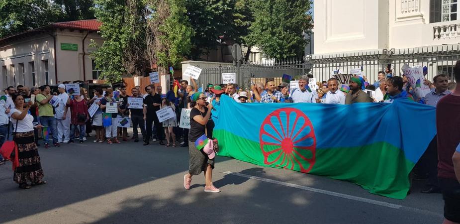 Tüntetés Bukarestben 8
