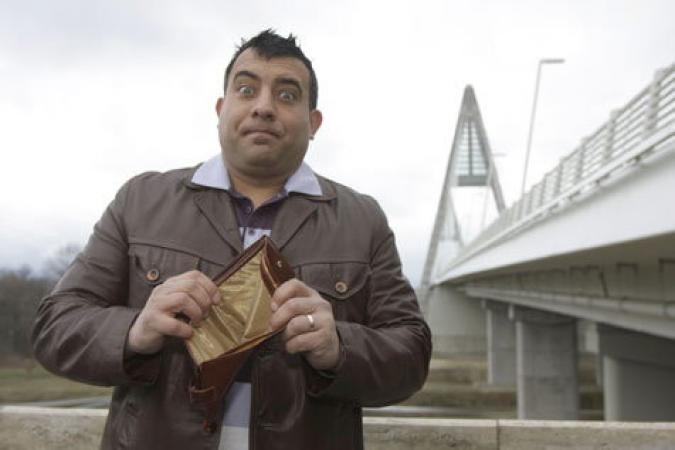 A Megyeri hídon-üres a pénztárca