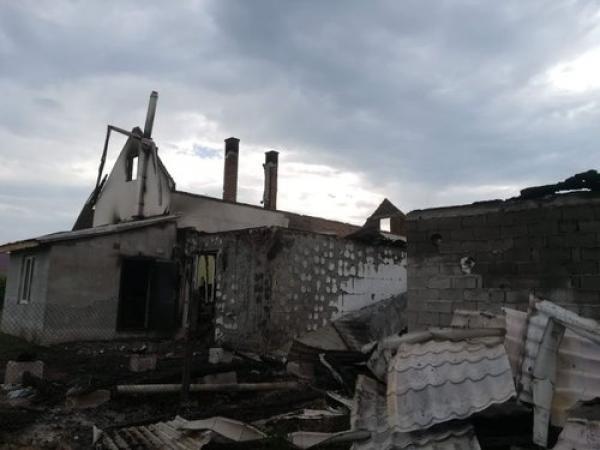 A leégett imaház