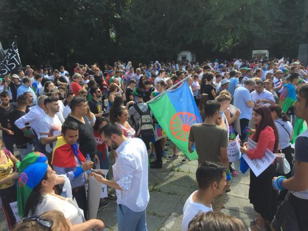 Tüntetés Bukarestben 3