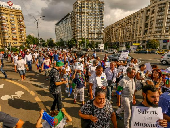 Tüntetés Bukarestben 1